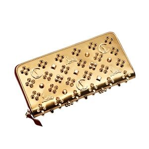 New Christian Louboutin Panettone Studded Wallet